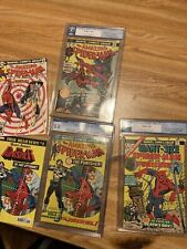 amazing spiderman 129 134 giant size spiderman 4 Cgc Pgx Lot Complete Punisher +