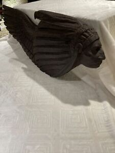"RARE R.L blair Famous Disney Artist wood hand carved sculpture 1994 29"" X 12"""