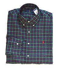 NWT Men's Ralph Lauren Casual Long-Sleeve Shirt, Green, Blue, Red L, Large