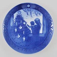 Royal COPENHAGEN PIATTO DI NATALE - 1981-PORCELLANA PIATTO-Christmas Plate