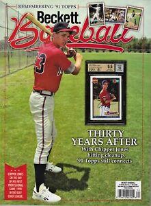 Current Baseball Beckett Price Guide Magazine March 2021 Chipper Jones