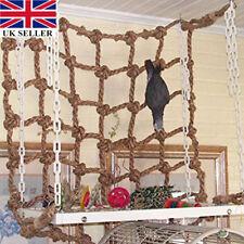 Natural Hemp Rope Net Climbing Wall Cargo Net Hammock Ferret Rat Parrot Pet Toy