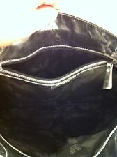 Emporio Armani Siver Tote Handbag With Goat Fur. Made in Italy.