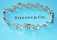 Tiffany & Co Paloma Picasso Sterling Silver Loving Heart Continuous Bracelet