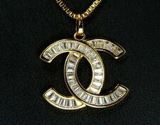 "Chic Thai Fashion CZ Pendant with 18"" Fine Chain 24K 22K Gold GP Necklace GT67"
