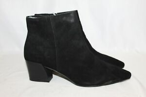 NEW Kensie Womens Lyden Black Leather Suede Short Ankle Boots Bootie Shoe Sz 11