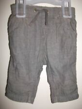 H&M Baby Boys Fully Lined Brown Trousers to Shorts - Age 4-6 Months