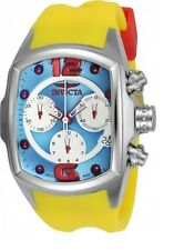 New Womens Invicta 21987 Lupah Blue Dial Yellow Strap Watch