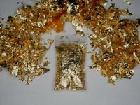 1 Gram Gold Leaf Flakes Largest Flakes Anywhere 100% Satisfaction Guaranteed