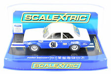 "Scalextric ""Coca-Cola"" Ford Escort MK1 DPR W/ Lights 1/32 Scale Slot Car C3672"