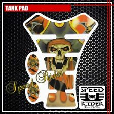 PIRATE SKULL GHOST TANK PAD PROTECTOR STICKER DECAL GEL GUARD TP001 GOLD YELLOW