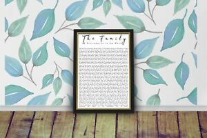 The Family: A Proclamation to the World frameable print
