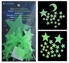 Glow in the Dark Stars and Moons - Boys Girls Kids Bedroom Decoration