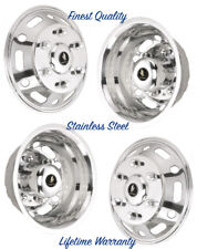 "SPRINTER 16"" WHEEL SIMULATOR WHEEL COVERS HUB CAPS STAINLESS STEEL LINERS SET 4"