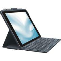 Logitech SLIM FOLIO Bluetooth Tastatur QWERTZ für iPad 5./6. Generation Schwarz