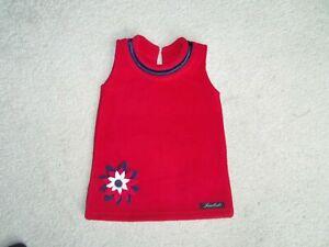 SALE Girls Childrens Toddlers Kids Warm Winter Fleece 3D Flower Casual Dress 1-6
