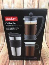 Bodum conjunto cafetera 3 tazas de café 0.35 L Cuchara de prensa de Vidrio Taza de viaje NUEVO