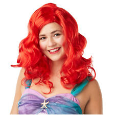 Ariel Womens Disney Mermaid Fairytale Princess Adult Fancy Dress Costume Wig 123