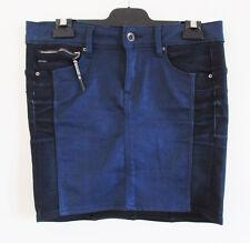 G Star Raw Sz 27 Ink Navy Stretch Denim 2-Tone Pencil Mini Midge Sculpted Skirt