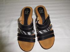 BETANI Women's Slip On Heels Sandals Black Size 7