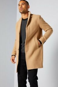 Selected Homme recycled wool crombie coat size L