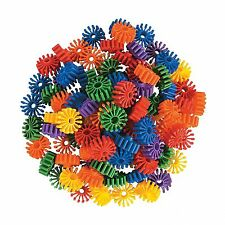 6 large 1- 1/2'' plastic durable gears Parrot Bird Toy Parts. 1/2'' Hole