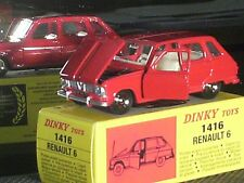 RENAULT R 6  DINKY TOYS REEDITION ATLAS / ROUGE