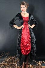 Sexy Women's Gothic Halloween Black Red Vampire Countess Fancy Dress Costume