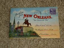 (K) Lot Greetings From New Orleans Folder Souviner Card Lot, Louisiana