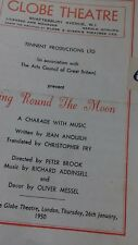 Theatre programme. Ring Round the Moon, 1950. Paul Scofield. Globe Theatre.