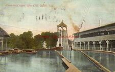 Antique Postcard Dallas Texas Chute the Chutes Lake Cliff Water Ride TX PC