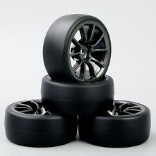 1:10 RC Speed Drift Racing Car Slick Tire & Wheel Set For HSP HPI C12M 4PCS