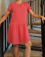 New Casual CYNTHIA ROWLEY Amaranth Red Drop Waist Dress Uk8-10