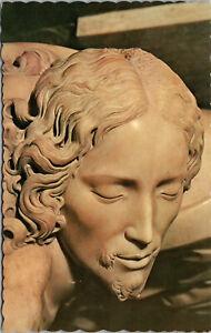 Vtg Face Of Savior Pieta Vatican Pavillion New York Worlds Fair 1964 Postcard