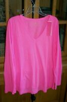 LILLY PULITZER ETTA LONG SLEEVE T SHIRT TEE KNIT TOP PROSECCO PINK NWT NEW XL