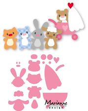 Marianne DESIGN COLLECTABLES De Corte De Grabación en Relieve Die Eline's Baby Animales COL1422