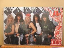vintage Warrant poster original rock  and roll 1989  11822