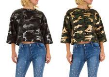 Damen-Pullover & -Strickware aus Baumwolle mit Camouflage-Muster