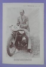 Jimmy Simpson - Original Motor Cycling Magazine Supplement Print 1934