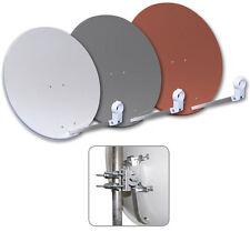 80 cm Satelliten SAT Spiegel Schüssel Stahl Antenne FULL HDTV HD+ SKY Megasat