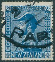 New Zealand 1926 SG469 2/- blue KGV FU