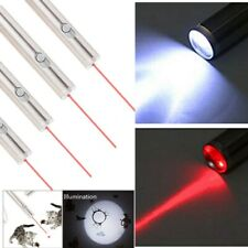 4x Mini Red Laser Pointer Pen with LED Flashlight Torch Visible Beam 650nm Lazer