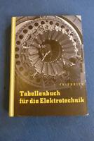 Tabellenbuch für die Elektrotechnik 1961 DDR