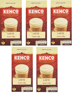 Kenco Latte Smooth & Silky Instant Coffee Drink 5 Boxes x8 Cups **BBE 10.07.21**