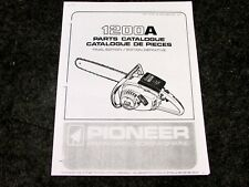 PIONEER MODEL 1200 A CHAINSAW  PARTS MANUAL CHAIN SAW #430314 REV. 12-77