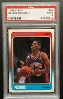 1988 Fleer Dennis Rodman Rookie PSA Mint 9 Last Dance Bulls Bad Boys Pistons RC