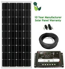 150W Mono Solar Panel Kit 10 Year Panel Warranty Caravan Sheds Van Motorhome