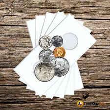 100 2x2 ASSORTED Mylar Cardboard Coin Holder Flips