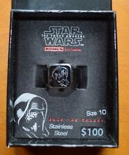 STAR WARS STAINLESS STEEL LEAD VILLAIN RING -SIZE 10