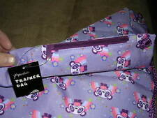 BNWT Paperchase Trainer bags/ backpacks Purple w/ Panda rainbow design